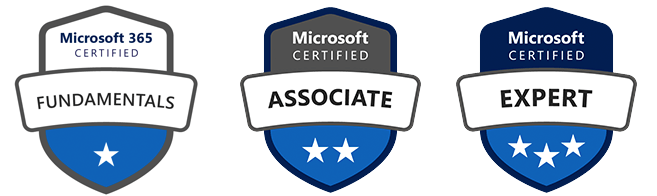 microsoft certification badges