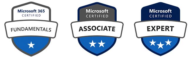 microsoft certification badges